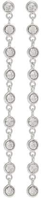 Kenneth Jay Lane Glass crystal link drop earrings