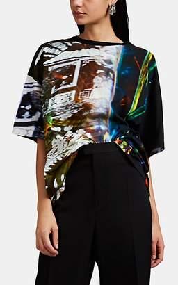 Maison Margiela Women's Abstract-Print Cotton T-Shirt - Black