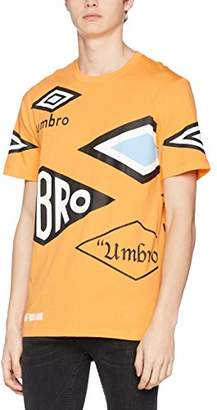 House of Holland Men's Umbro Multi Logo T-Shirt Casual Orange, X-Small
