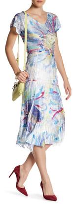 KOMAROV Flutter Sleeve Midi Dress $278 thestylecure.com