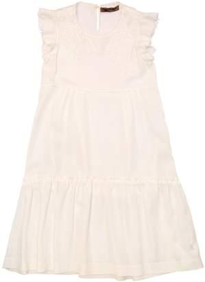 Ermanno Scervino Lace & Twill Dress