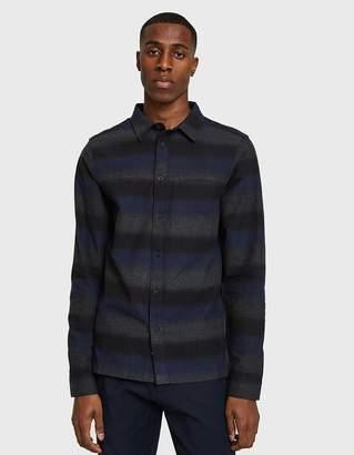 NATIVE YOUTH Myton Shirt in Navy/Grey
