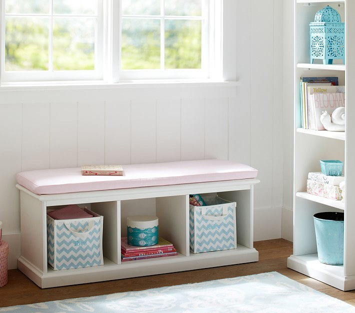 Pottery Barn Kids Catalina Storage Bench & Cushion
