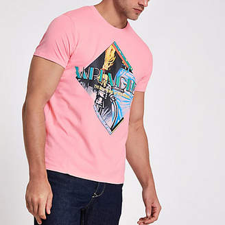 Wrangler pink graphics T-shirt