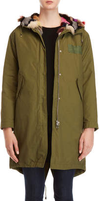 Yves Salomon Army Real Fur-Lined Hooded Parka