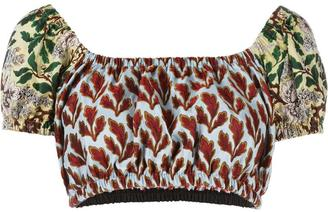 Philosophy Di Lorenzo Serafini leaves print cropped top $330 thestylecure.com