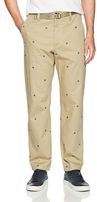 Perry Ellis Men's Modern Fit Embroidered Chino