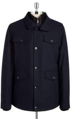 William Rast Wool Layered Walking Coat
