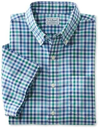 L.L. Bean L.L.Bean Wrinkle-Free Kennebunk Sport Shirt, Traditional Fit Short-Sleeve Check