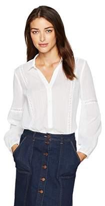 NYDJ Women's Novelty Trim Gauze Shirt