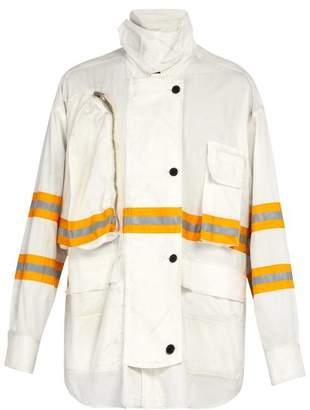 Calvin Klein Reflective Trim Cotton Jacket - Mens - White