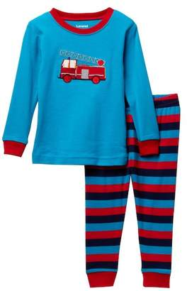Leveret Two-Piece Fire Truck Pajama Set (Baby Boys)