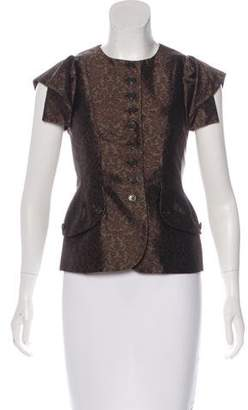 Michael Kors Patterned Short Sleeve Blazer