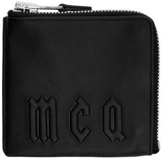 McQ Black Logo Zippered Wallet