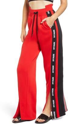 Ivy Park R) Spliced Stripe Wide Leg Track Pants