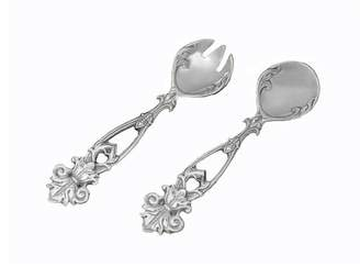 Arthur Court Fleur De Lis 2 Piece Salad Servers Set