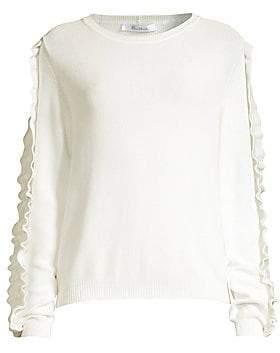 Max Mara Women's Globale Ruffle-Trim Sweater