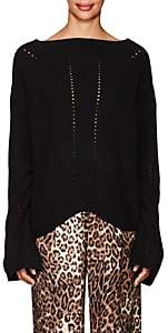 Nili Lotan Women's Leyton Rib-Knit Cashmere Sweater-Black
