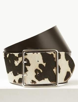Marks and Spencer Leather Animal Print Waist Belt