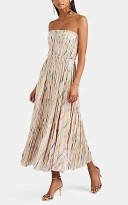 J. Mendel Women's Silk-Blend Plissé Cocktail Dress - Almond