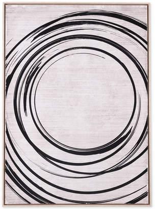 ZUO Anillos Black & Cream Canvas Print