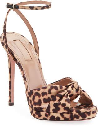 b908be83b Aquazzura Chance Leopard-Print Platform Sandals