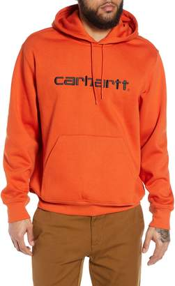 Carhartt Work In Progress Logo Embroidered Hooded Sweatshirt