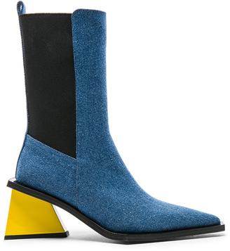 Marques Almeida Marques ' Almeida Pointy Mid Denim Heel Boots