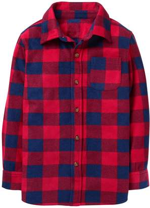 Crazy 8 Crazy8 Buffalo Check Microfleece Shirt Jacket