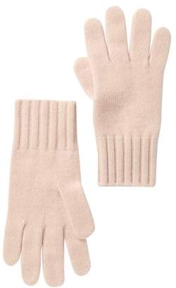 Portolano Cashmere Wide Ribbed Cuff Gloves
