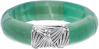 Stephen Dweck Sterling Silver Rectangular Gemstone Bracelet