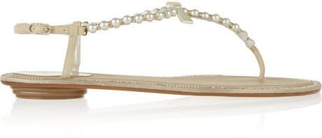 Rene Caovilla Embellished leather sandals
