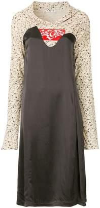 Aalto hoodie mixed jersey dress