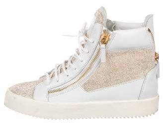 Giuseppe Zanotti May London Leather Sneakers