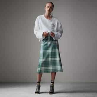 Burberry Silk-lined Tartan Plastic A-line Skirt