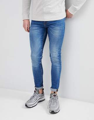 New Look Skinny Jean In Mid Blue Wash