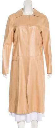 Alberta Ferretti Leather Long Coat