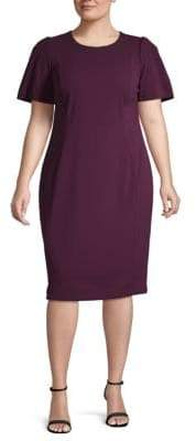 Calvin Klein Plus Short Sleeve Sheath Dress