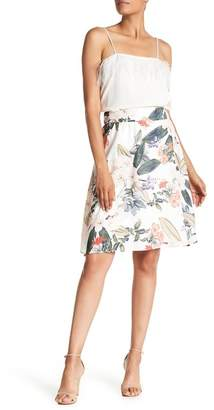 Philosophy Apparel Floral Print Flare Skirt