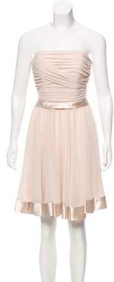 Blugirl Strapless Chiffon Dress w/ Tags
