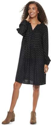 Sonoma Goods For Life Women's SONOMA Goods for Life Pintuck Challis Dress