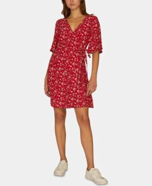 Sanctuary Girl On Fire Floral Print Wrap Dress