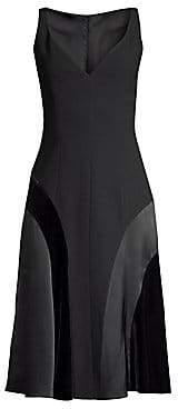 1f6de13a7f51c Elie Tahari Women's Zaria Crepe Satin Panel Dress