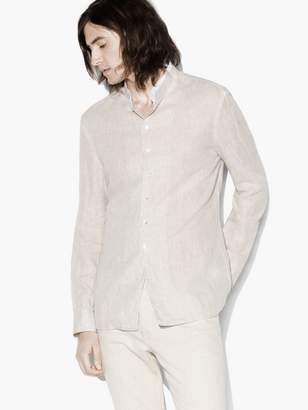 John Varvatos Stand-Collar Shirt
