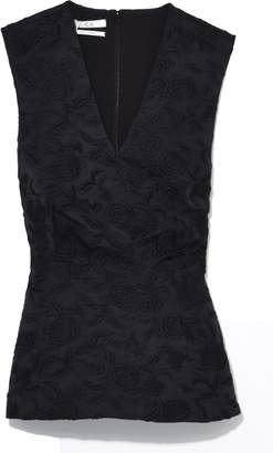 Co Sleeveless Sculpted Top in Black