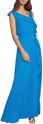 BCBGMAXAZRIA Asymmetric-Neck Maxi Dress