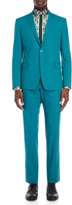 Versace Two-Piece Teal Suit