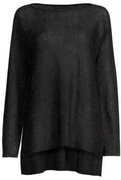 Eileen Fisher Sheer Boatneck Sweater