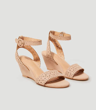 Cutout Wedge Sandals $89.50 thestylecure.com
