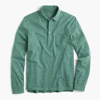 J.Crew Tall broken-in long-sleeve pocket polo shirt